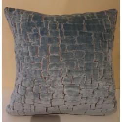 Cushion Velours bleu